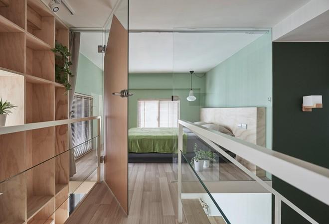 Ngôi nhà 40m² màu xanh matcha với thiết kế tầng lửng nhìn là yêu của gia đình trẻ - Ảnh 11.