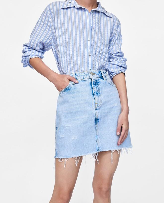 13 mẫu chân váy ngắn dáng xinh yêu mà giá cực vừa mắt đến từ thương hiệu H&M và Zara - Ảnh 8.