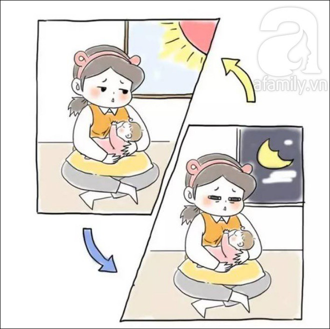 Bộ tranh: Khác biệt giữa tưởng tượng và thực tế sau khi sinh con - Ảnh 10.