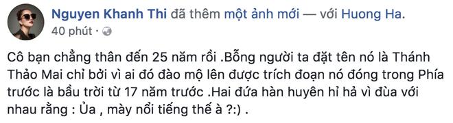 Khánh Thi đứng cạnh cô bạn thân 25 năm Nguyệt thảo mai, ai xinh đẹp hơn? - Ảnh 1.