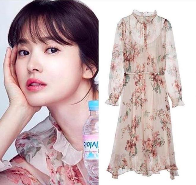 Cơn sốt của chiếc váy hoa quốc dân: Đến cả Song Hye Kyo cũng chọn mặc để đóng quảng cáo đây này! - Ảnh 3.