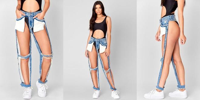 Chiếc quần jeans nát bươm, mặc cũng như không này có giá đến 4 triệu đồng và là thứ đang được các tín đồ thời trang săn lùng - Ảnh 1.