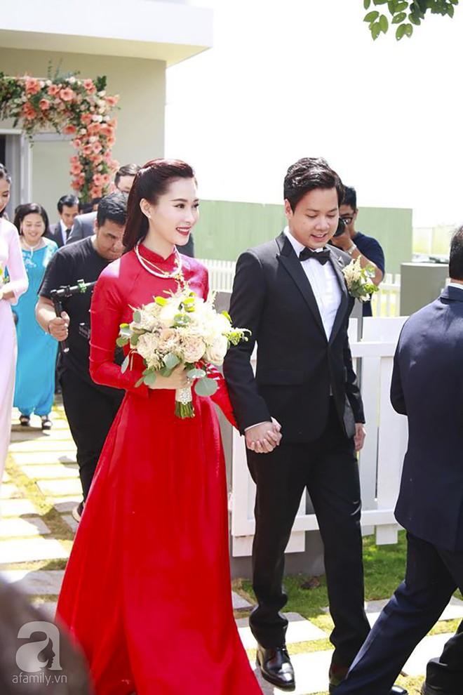 Cùng diện áo dài đỏ ngày ăn hỏi, Diệp Lâm Anh, HH Thu Thảo và Hà Tăng lại chọn 3 phong cách hoàn toàn khác nhau - Ảnh 7.