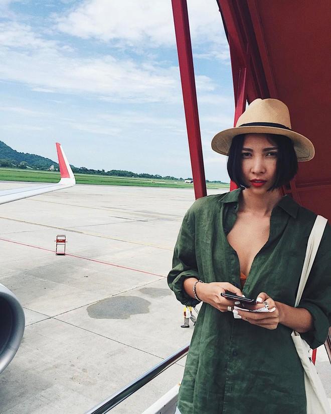 Học sao Việt cách chọn và kết hợp mũ cói sao cho thật duyên dáng khi diện cùng trang phục hè - Ảnh 15.