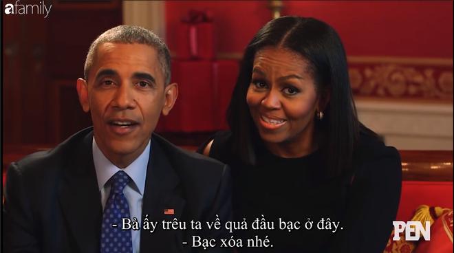 Cười ngất khi Đệ nhất phu nhân Michelle liên tục nói xấu Cựu tổng thống Barack Obama trên truyền hình - Ảnh 4.