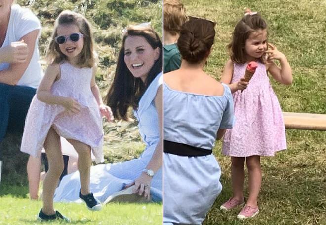 Công chúa Charlotte cũng như bao bé gái khác, mặc đồ bình dân rất xinh và tận dụng tối đa chiếc váy yêu thích - Ảnh 8.