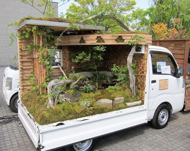 Xe tải cũ hỏng biến thành vườn cây xanh mát đẹp mê li, một lần nữa người Nhật lại khiến thế giới phải choáng váng - ảnh 18