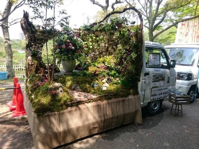 Xe tải cũ hỏng biến thành vườn cây xanh mát đẹp mê li, một lần nữa người Nhật lại khiến thế giới phải choáng váng - ảnh 17