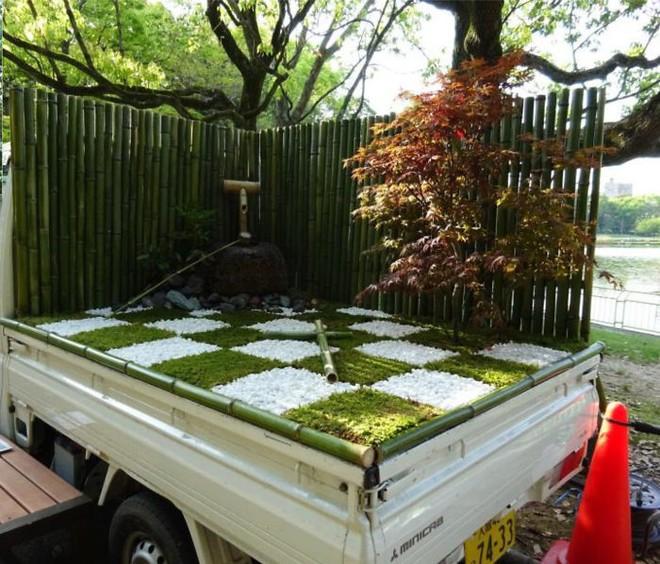 Xe tải cũ hỏng biến thành vườn cây xanh mát đẹp mê li, một lần nữa người Nhật lại khiến thế giới phải choáng váng - ảnh 22