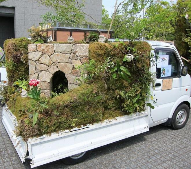 Xe tải cũ hỏng biến thành vườn cây xanh mát đẹp mê li, một lần nữa người Nhật lại khiến thế giới phải choáng váng - ảnh 20