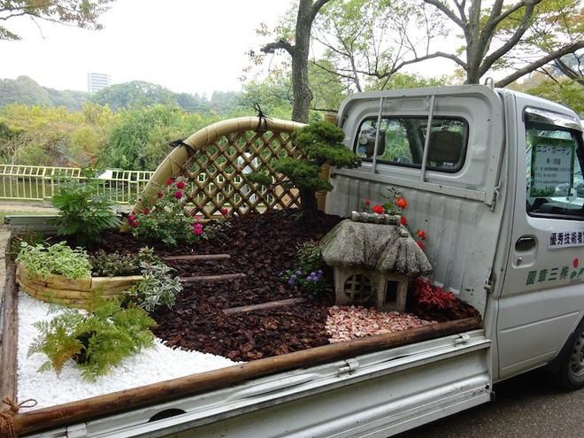Xe tải cũ hỏng biến thành vườn cây xanh mát đẹp mê li, một lần nữa người Nhật lại khiến thế giới phải choáng váng - ảnh 9