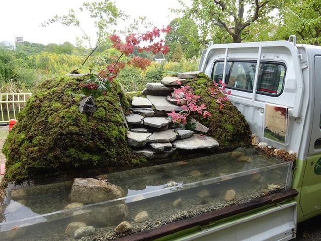Xe tải cũ hỏng biến thành vườn cây xanh mát đẹp mê li, một lần nữa người Nhật lại khiến thế giới phải choáng váng - ảnh 5