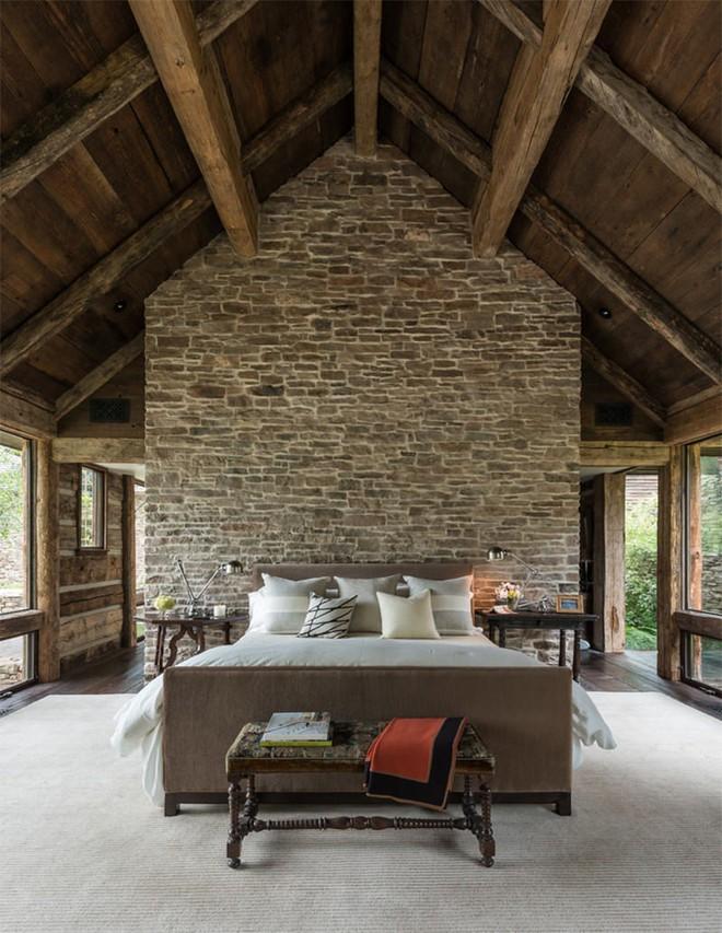 17 kiểu phòng ngủ với tường đá và gạch thô đáp ứng mọi sở thích của người chuộng phong cách này - Ảnh 6.
