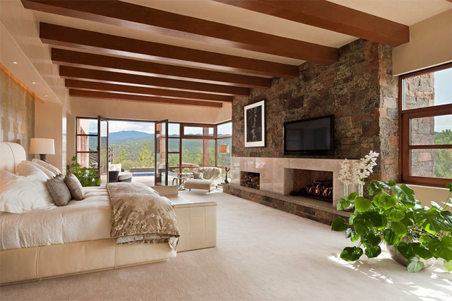 17 kiểu phòng ngủ với tường đá và gạch thô đáp ứng mọi sở thích của người chuộng phong cách này - Ảnh 12.
