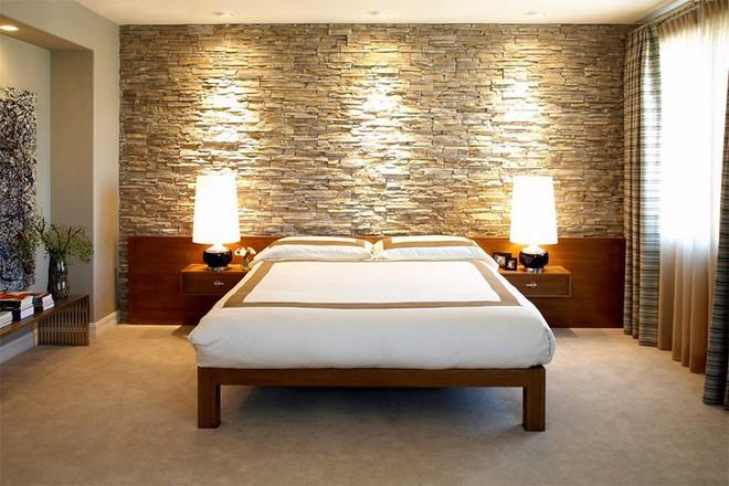 17 kiểu phòng ngủ với tường đá và gạch thô đáp ứng mọi sở thích của người chuộng phong cách này - Ảnh 4.
