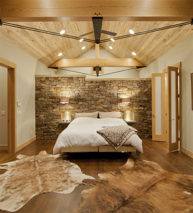 17 kiểu phòng ngủ với tường đá và gạch thô đáp ứng mọi sở thích của người chuộng phong cách này - Ảnh 17.