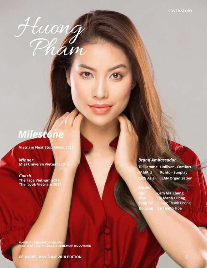 Vượt ồn ào đóng facebook vĩnh viễn, Phạm Hương rạng rỡ trên bìa tạp chí Pháp - Ảnh 3.