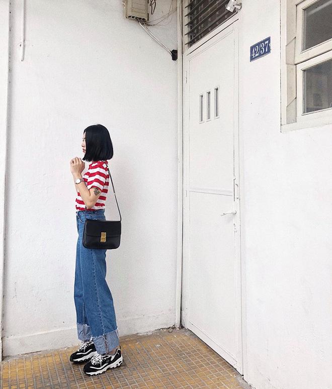 Chỉ với áo phông kẻ và quần jeans, một mình Hà Tăng cân cả street style sao Việt tuần này - Ảnh 11.
