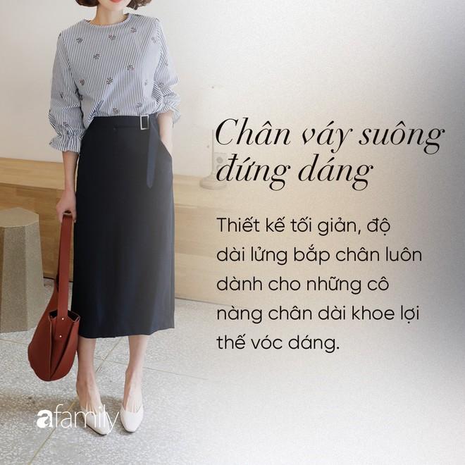Dù cao ráo hay thấp bé chỉ cần chọn đúng dáng chân váy phù hợp thì chân ai cũng như dài miên man cả tấc - Ảnh 11.