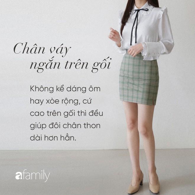 Dù cao ráo hay thấp bé chỉ cần chọn đúng dáng chân váy phù hợp thì chân ai cũng như dài miên man cả tấc - Ảnh 2.
