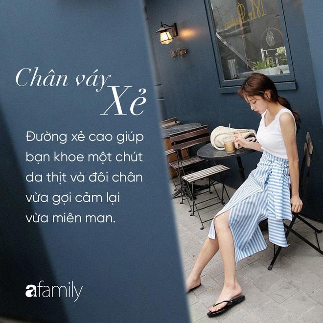 Dù cao ráo hay thấp bé chỉ cần chọn đúng dáng chân váy phù hợp thì chân ai cũng như dài miên man cả tấc - Ảnh 4.