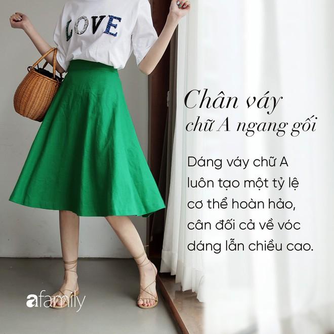 Dù cao ráo hay thấp bé chỉ cần chọn đúng dáng chân váy phù hợp thì chân ai cũng như dài miên man cả tấc - Ảnh 7.