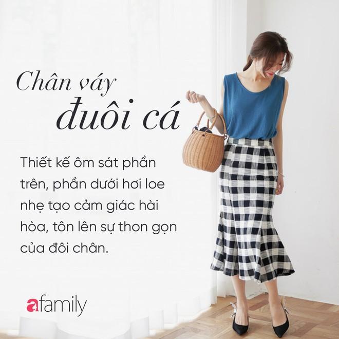 Dù cao ráo hay thấp bé chỉ cần chọn đúng dáng chân váy phù hợp thì chân ai cũng như dài miên man cả tấc - Ảnh 8.
