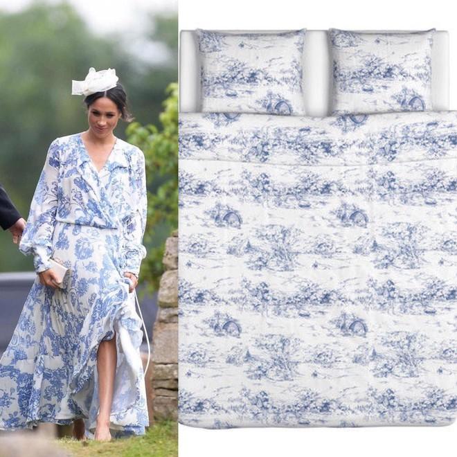 Chiếc váy hàng trăm triệu đồng của Công nương Meghan bị dân mạng đem so sánh với… bộ ga trải giường - Ảnh 3.