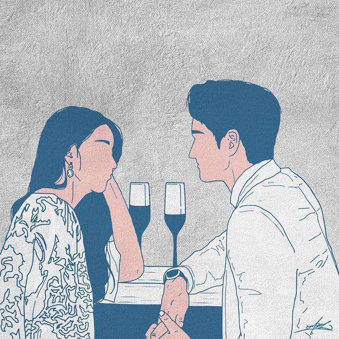 Bộ tranh 50 sắc thái tình yêu khiến người xem tan chảy - Ảnh 14.