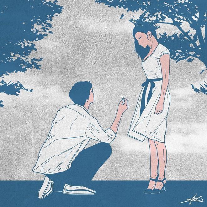 Bộ tranh 50 sắc thái tình yêu khiến người xem tan chảy - Ảnh 19.