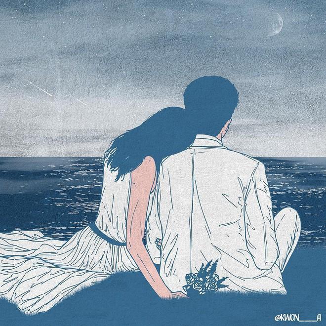 Bộ tranh 50 sắc thái tình yêu khiến người xem tan chảy - Ảnh 9.