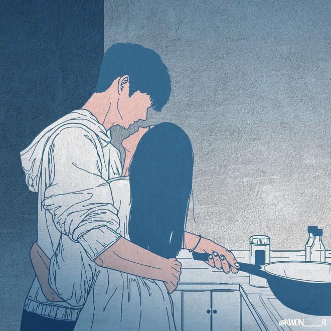 Bộ tranh 50 sắc thái tình yêu khiến người xem tan chảy - Ảnh 7.