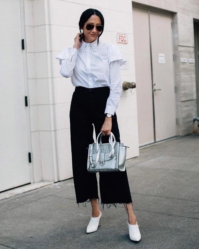 4 cách biến hóa với giày cao gót trắng - món đồ không thể thiếu trong tủ đồ của chị em trong mùa hè này - Ảnh 13.