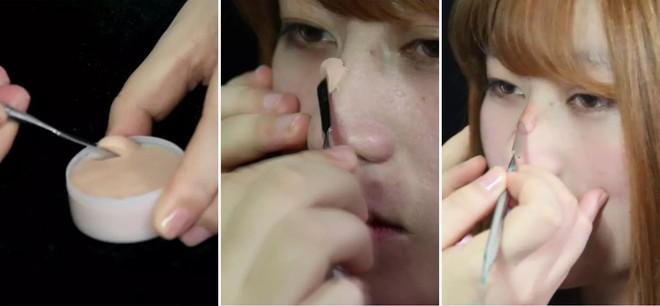 """Hội mũi tẹt """"bơi"""" hết vào đây, con gái Trung Quốc có cách biến mũi thấp thành mũi cao mà chẳng phải phẫu thuật - Ảnh 6."""