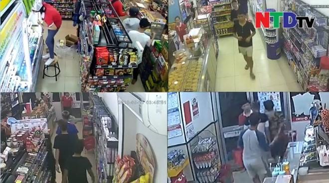 Clip: Nhóm đạo tặc toàn thanh niên trẻ táo tợn mang dao đi cướp nhiều cửa hàng tiện ích ở Sài Gòn - ảnh 1