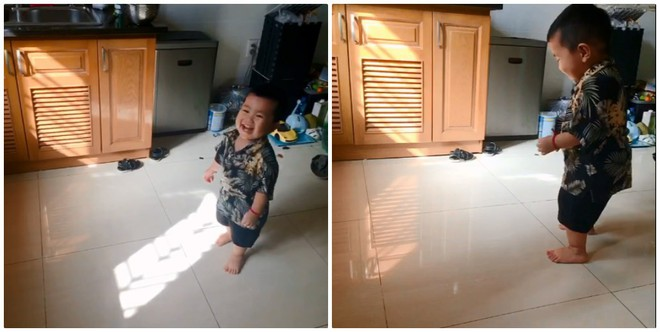 Ở nhà trông con giúp vợ, ông bố trẻ phát minh ra trò chơi kinh điển khiến cậu bé cười như được mùa - Ảnh 2.