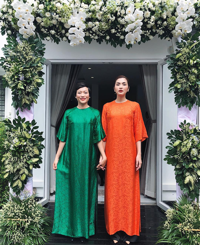 Chỉ mặc áo dài mà Tăng Thanh Hà cũng gây xôn xao mạng xã hội - Ảnh 1.
