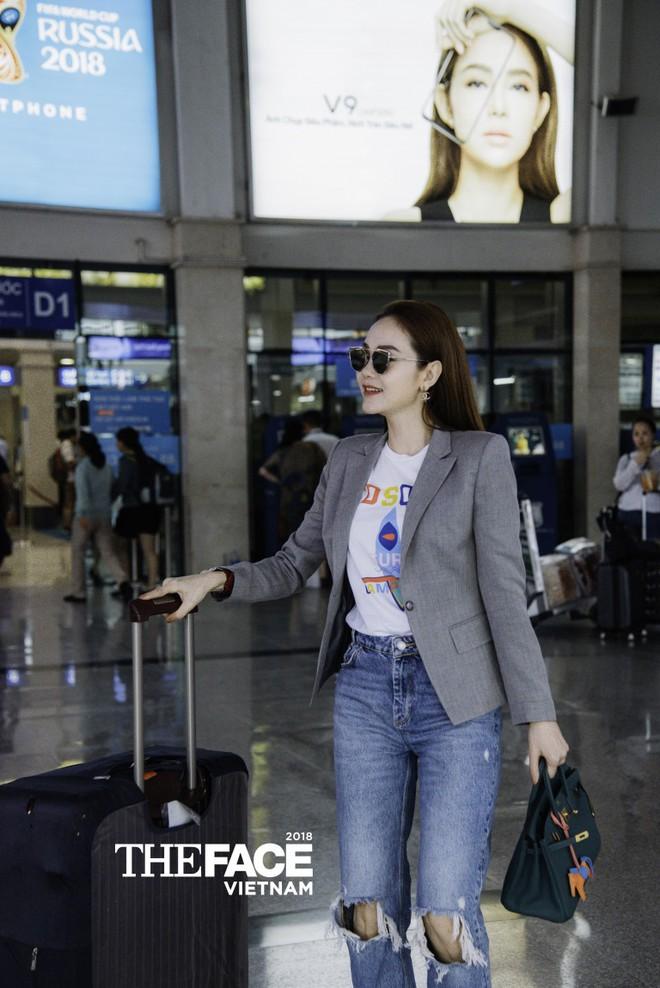 Vừa bị stylist tố ki bo, Minh Hằng đã diện bộ phụ kiện gần 2 tỷ đồng ra sân bay chuẩn bị casting The Face - Ảnh 2.