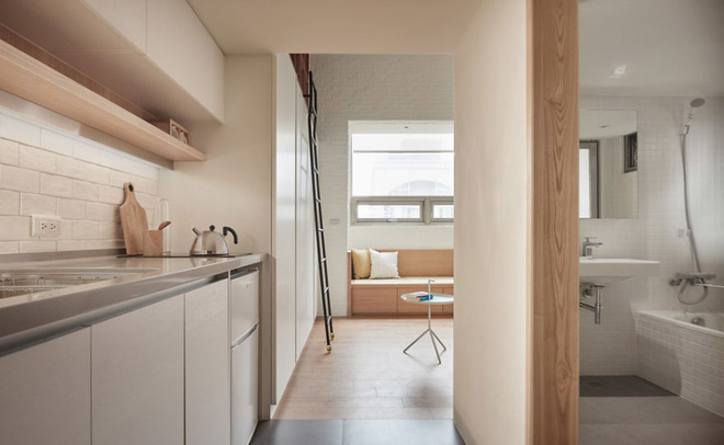 Sau khi xem những bức ảnh này, không ai có thể tin căn hộ đầy đủ tiện nghi quá đẹp, quá sang ấy lại chỉ có diện tích 22m2 - Ảnh 1.