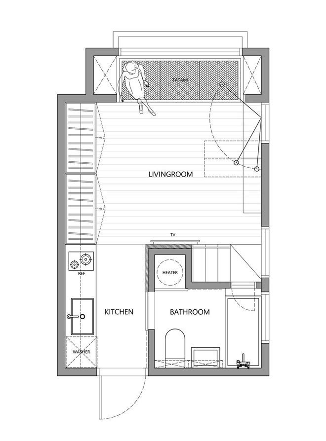 Sau khi xem những bức ảnh này, không ai có thể tin căn hộ đầy đủ tiện nghi quá đẹp, quá sang ấy lại chỉ có diện tích 22m2 - Ảnh 10.