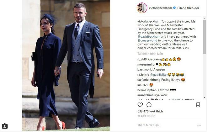 Bán đồ mặc đi dự đám cưới Hoàng gia để làm từ thiện, vậy mà vợ chồng David Beckham lại bị mỉa mai hết lời - Ảnh 2.