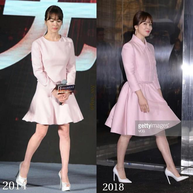 Sau bao nhiêu năm, Song Hye Kyo vẫn cứ mải miết diện một kiểu váy đơn giản - Ảnh 1.