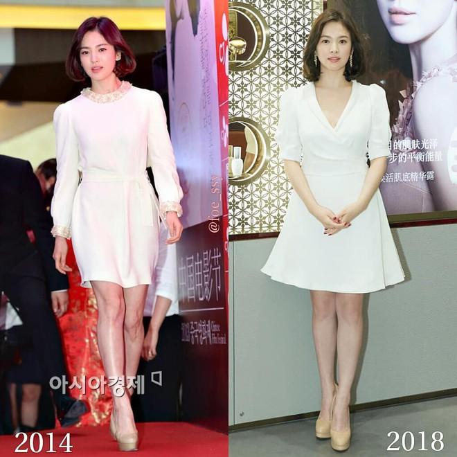 Sau bao nhiêu năm, Song Hye Kyo vẫn cứ mải miết diện một kiểu váy đơn giản - Ảnh 2.