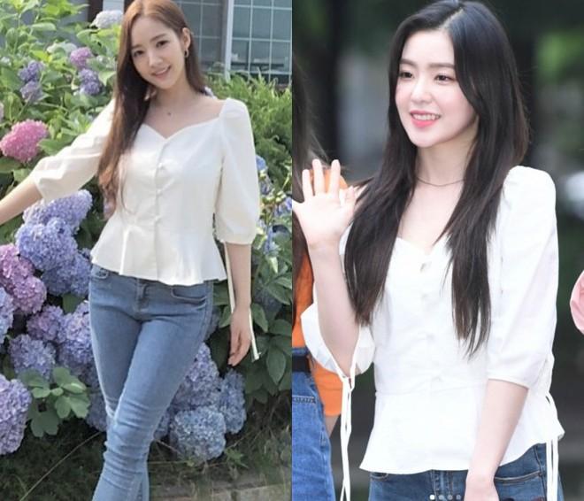 Cùng chung ý tưởng khi diện chiếc áo này, Park Min Young và Irene khiến fan khó phân định được ai đẹp hơn  - Ảnh 4.