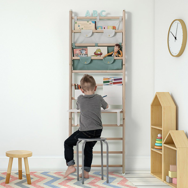 Khám phá những tác dụng bất ngờ từ chiếc thang gỗ trong phòng trẻ - Ảnh 3.