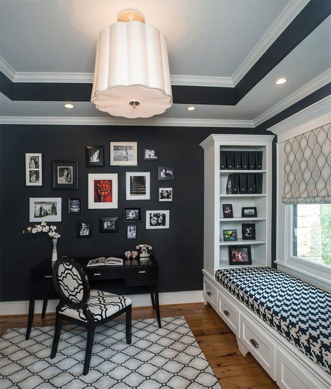 Trang trí nhà với hai gam màu đen và trắng sẽ khiến không gian sống của bạn không bao giờ bị lỗi mốt - Ảnh 17.