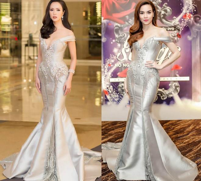 Vũ Ngọc Anh kiêu sa, lộng lẫy là thế vẫn lùi bước trước Hồ Ngọc Hà khi diện chung một mẫu váy - Ảnh 9.