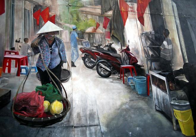 Hà Nội: Phố bích họa Phùng Hưng tái khởi động, hoàn thành trước Tết cổ truyền - Ảnh 14.
