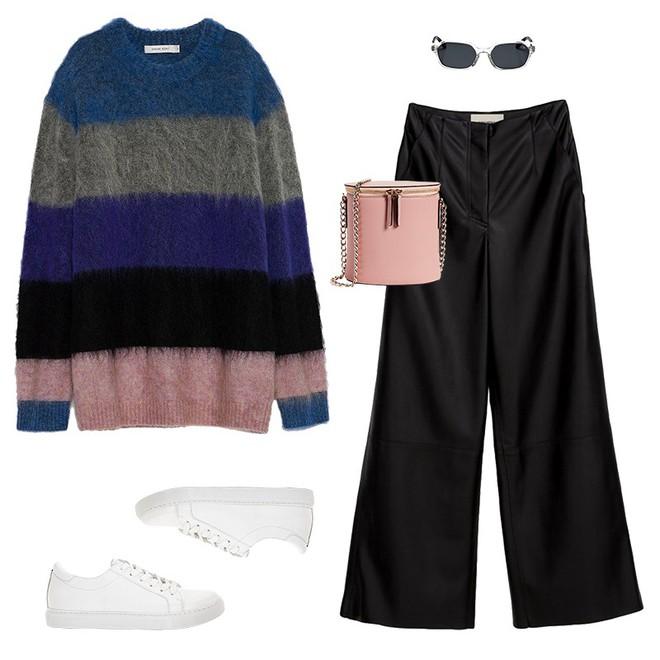 Áo len kẻ nhiều màu đang hot và đây là 3 kiểu quần rất ăn ý để kết hợp cùng - Ảnh 11.