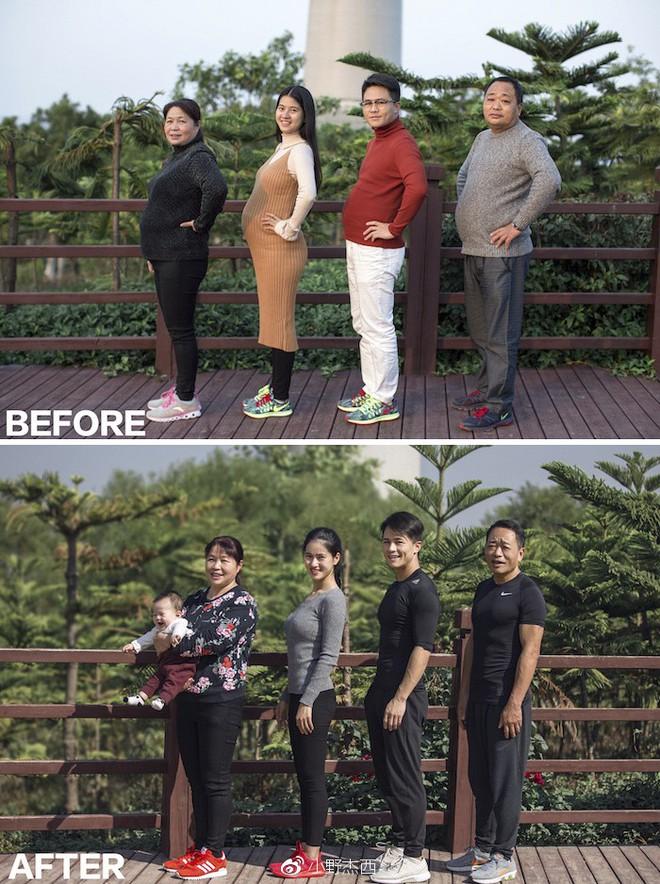 Khổ sở vì béo bụng, thừa cân, cả gia đình rủ nhau tập luyện, kết quả 6 tháng sau khiến vạn người mơ ước - Ảnh 3.